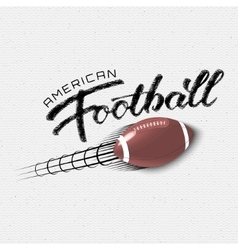 American football insignia and labels for any use vector image