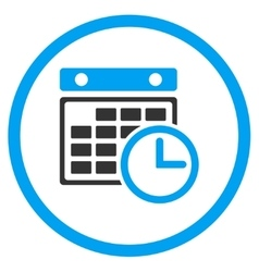 Timetable rounded icon vector