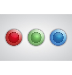 Set of glossy 3d buttons vector