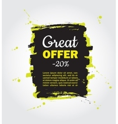 Grunge splash sale banner black friday vector