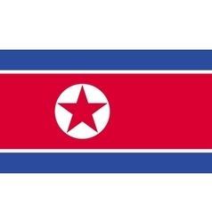 North korea flag image vector