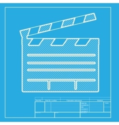 Film clap board cinema sign white section of icon vector