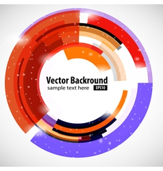 Abstract modern technology circle vector image
