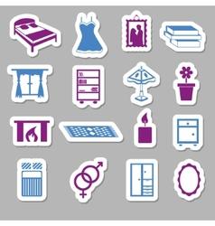 Bedroom stickers vector