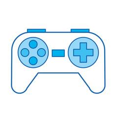 Blue icon control game vector