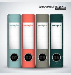 Business folders inforgraphics elements vector
