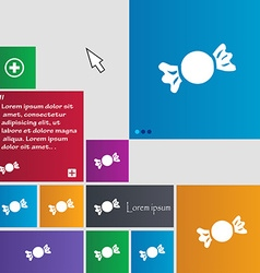 Candy icon sign buttons modern interface website vector