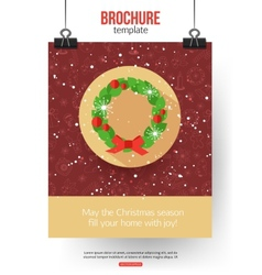 Christmas brochure template abstract typographical vector