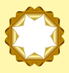 Decorative rosette vector image vector image