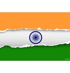 Design flag india from torn papers with shadows vector