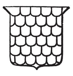 Escalloped are scallop-shells said of the field vector