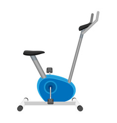Exercise bike or orbitrek isolated on white vector