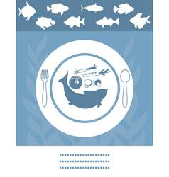 fish menu vector image vector image