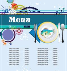 Fish restaurant menu vector