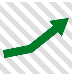 Growth trend icon vector