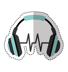 headset audio device icon vector image vector image