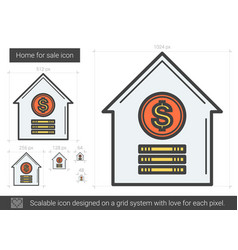 home for sale line icon vector image