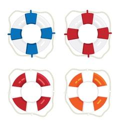 Life saver rings vector