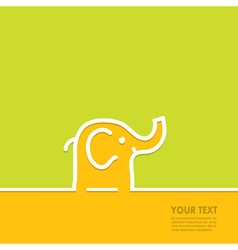 Line in the form of an elephant vector