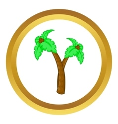 Palm tree with coconuts icon vector