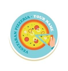 pizza icon for a italian restaurant pzzeria vector image
