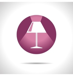 reading-lamp icon Eps10 vector image vector image