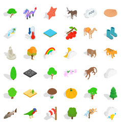 reservation icons set isometric style vector image vector image