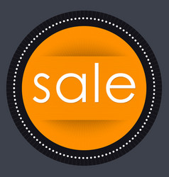 Sale banner template design orange round vector