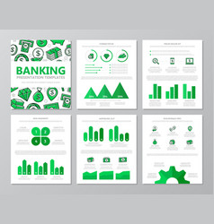 set of colored bank and money elements for vector image vector image
