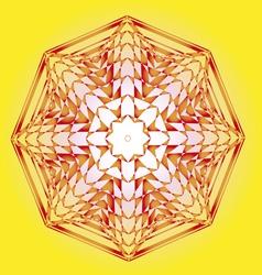 spring lotus sun design vector image