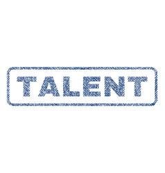 Talent textile stamp vector