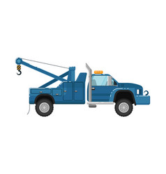 tow truck isolated vector image