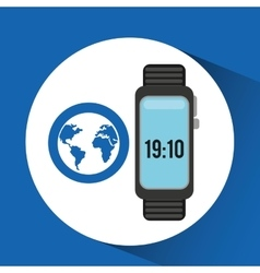 watch globe app social network vector image