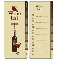 wine list vector image vector image