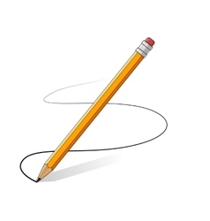 Yellow pencils drawing line vector
