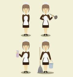 young beautiful maids vector image vector image