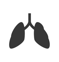 Lungs icon medical and health care vector