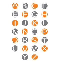 Alphabet letters carved in the circle vector