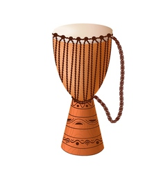 realistic djembe vector image