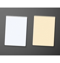 Realistic paper notepad notebook vector