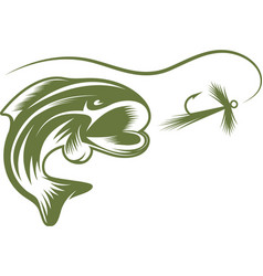 Abstract fish and lure design template vector