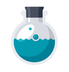 Laboratory flask icon vector