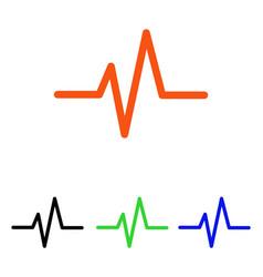 Pulse flat icon vector
