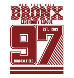 Bronx t-shirt graphics vector