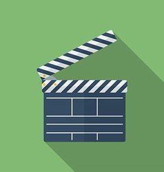 Icon of movie clapper flat style vector