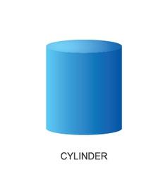 3d shape cylinder vector