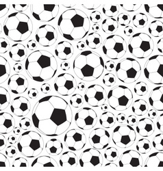 soccer and football balls seamless black and white vector image
