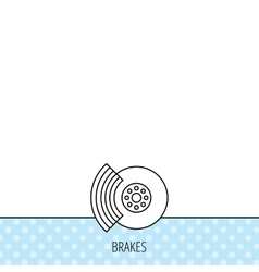 Brakes icon auto disk repair sign vector
