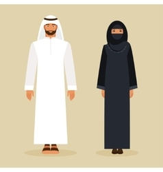 The arabs in the national costume vector