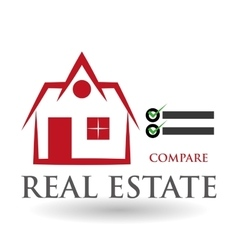 Real estate design home concept property icon vector